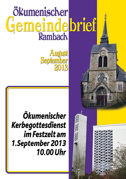 Gemeindebrief Rambach 2013 August+September